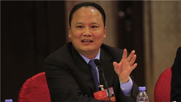 刘汉元代表与记者交流