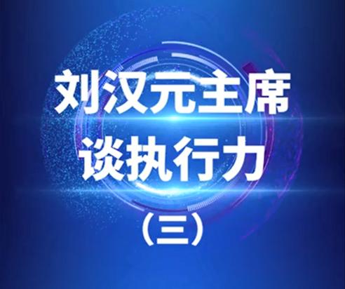 刘汉元主席谈执行力之三