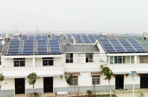 通威太阳能首个分布式光伏发电试点项目现场