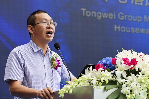 入驻商家代表恒丰银行成都分行副行长陈克贤在盛典仪式上致辞