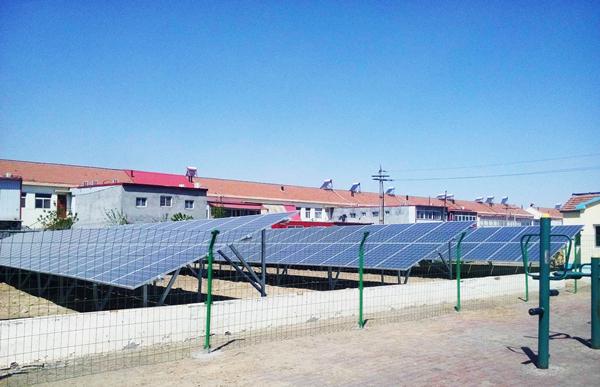 成功并网的光伏电站为贫困村输送源源不断的清洁能源